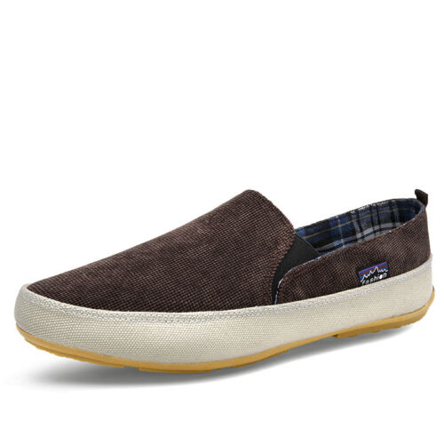 Mens Canvas Casual Slip On Loafer Shoes Moccasins Driving Zapato Fashion Shoes