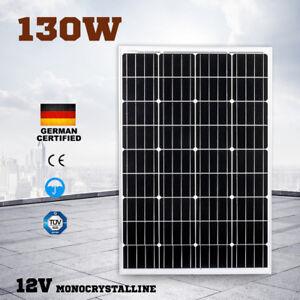 12V-130W-Solar-Panel-Kit-Generator-Camping-Power-Battery-Charger-Mono-130watt