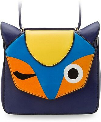Damen Handtasche steife Form Messengertasche VINTAGE Fuchs - Motiv