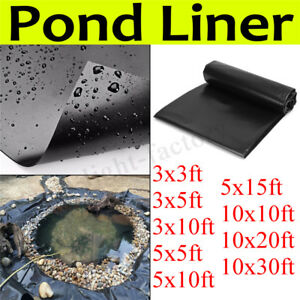 Details about Durable Fish Pond Liner Gardens Pools HDPE Membrane  Reinforced Landscaping