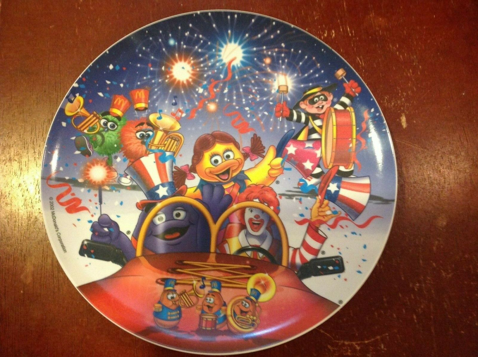 Ronald Birdie /& Grimace Unused 4 McDonald/'s 4th of July Plates 1998