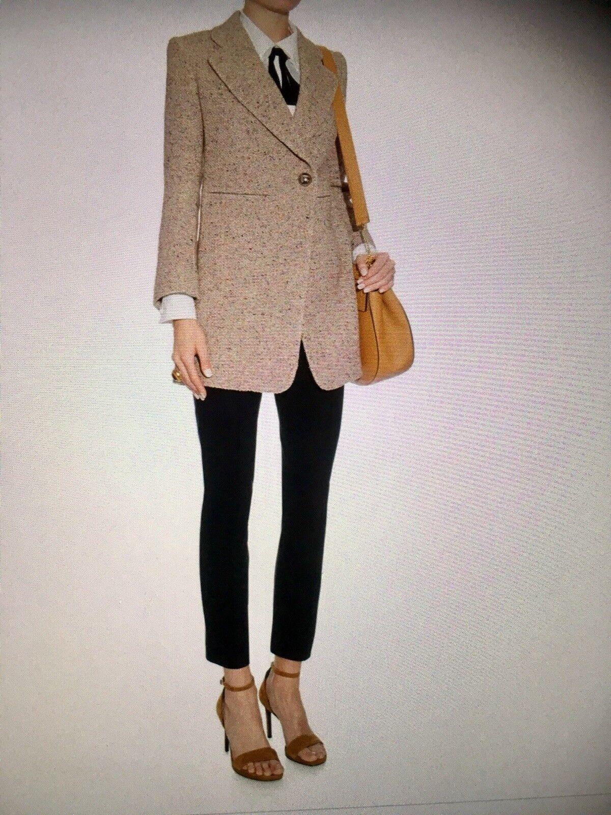 Chloe Tweed Effect Blazer Size 38 Retail 2624.00