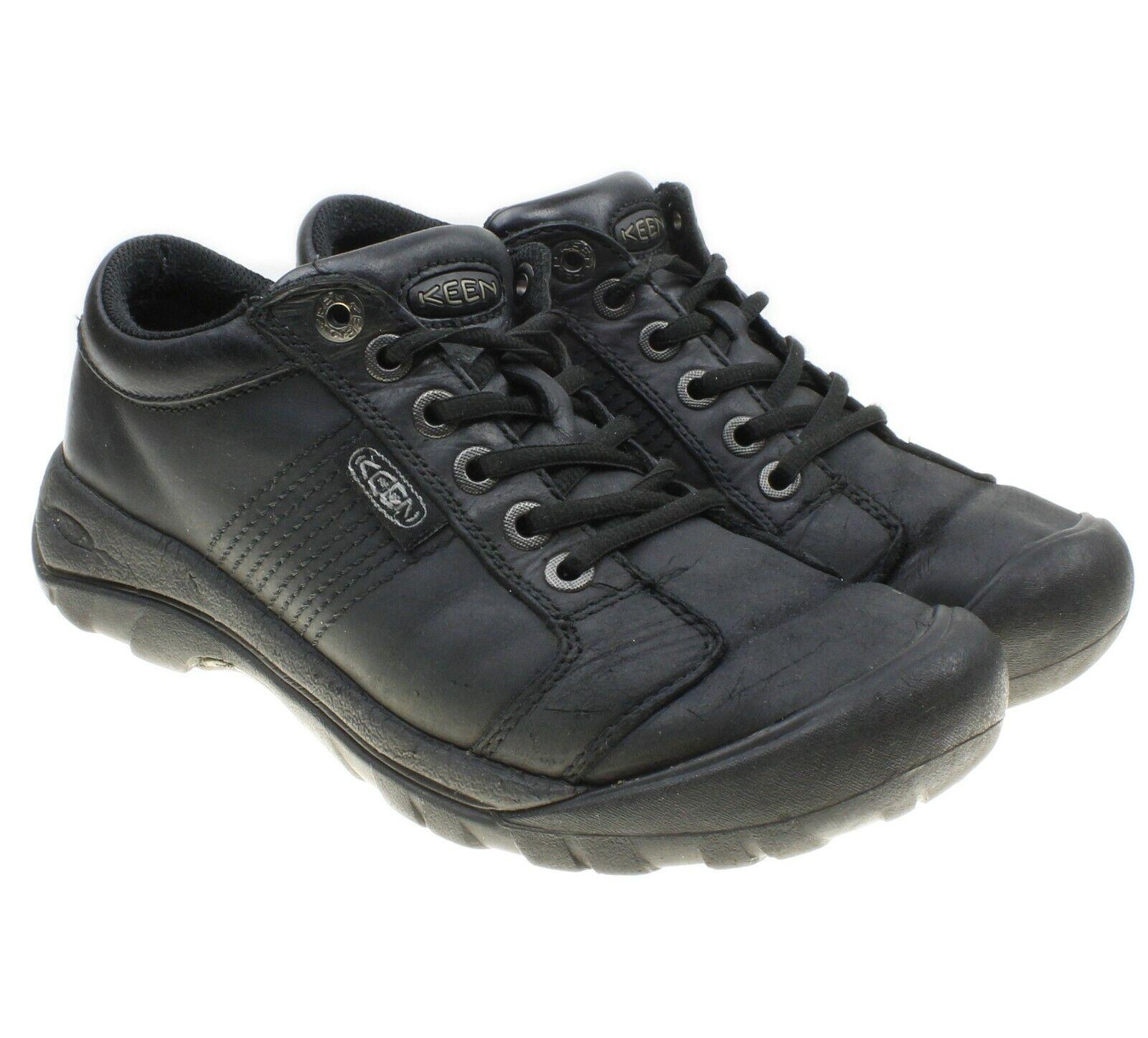 KEEN Austin Mens Black Lace-ups Leather Waterproof Hiking Walking shoes Size 7