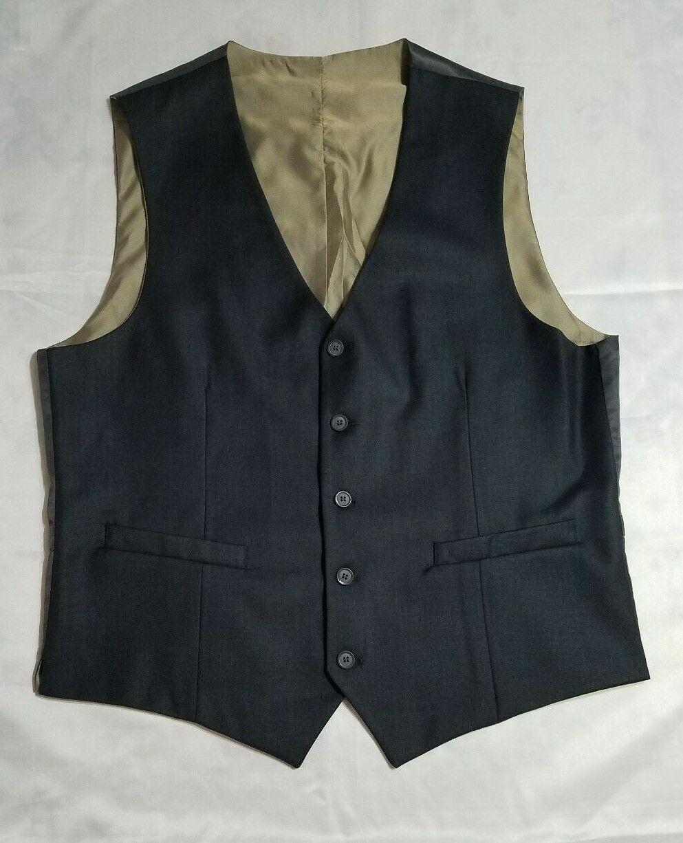 Braveman Men'S Slim Fit 3Pc Suits Slim 42X40W Regular Charcoal