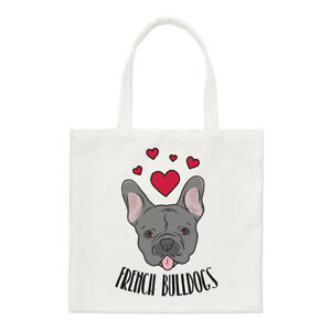 Love-French-Bulldogs-Small-Tote-Bag-Dogs-Dog-Puppy-Funny-Shoulder