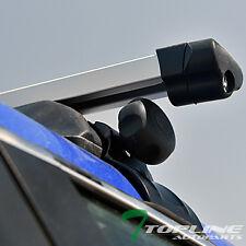 "UNIVERSAL 50"" SILVER SQUARE WINDOW FRAME ROOF RAIL RACK CROSS BARS CARRIER T15"