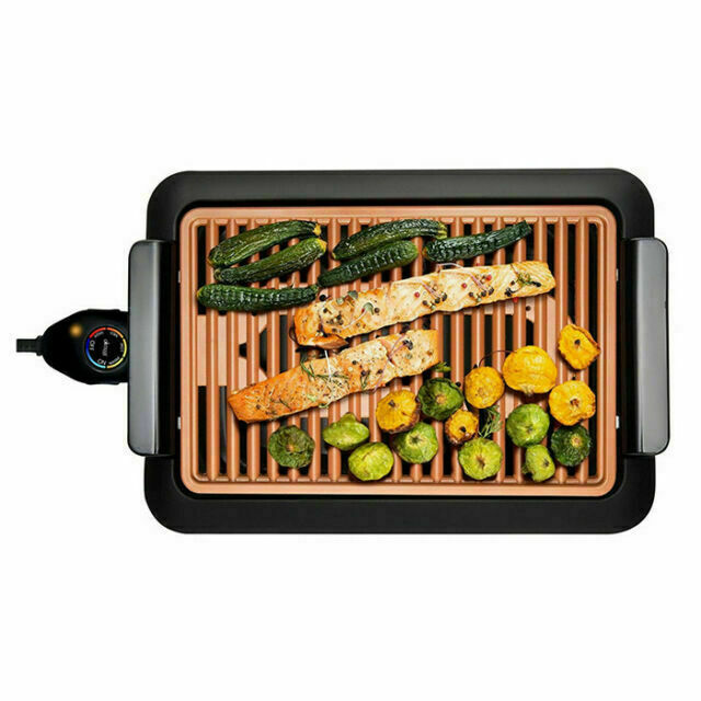 Smokeless Electric Grill, Deluxe Extra Large Surface Portabl