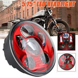 5-75-034-Universal-Rot-LED-Projektion-DOT-E9-Scheinwerfer-DRL-Hi-Lo-Beam-fuer-Harley