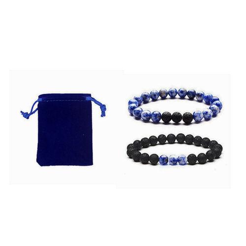 8mm Black Lava Mixture Stone Beads Bracelets DIY Essential Oil Diffuser Jewelry