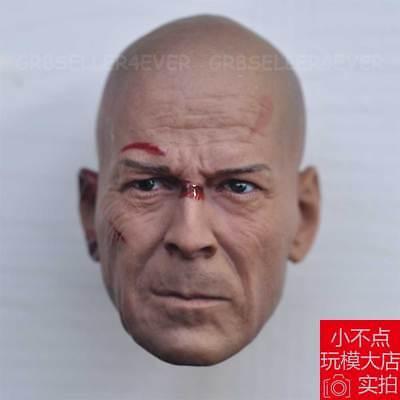 Free Ship 1//6 head sculpt Bruce Willis Die Hard GI Joe Retaliation Battle damage