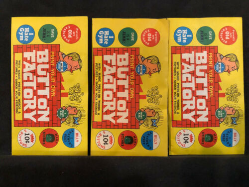Vintage Button Factory Wax Packs 3 Pack Deal