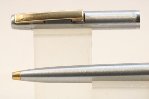 444XG Brushed Stainless Steel Ballpoint Pen GT Vintage Sheaffer Imperial No