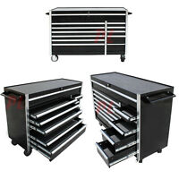Hd 56'' Roller Metal Tool Cabinet With 12 Bbs Drawers Mobile Toolbox W/ Wheels