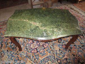 couchtisch tisch im barock stil gr ner marmor nussbaum geschnitzt ebay. Black Bedroom Furniture Sets. Home Design Ideas