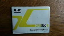 KAWASAKI GPZ 500 S DR E3 Manual De Instrucciones/Manual/Folleto