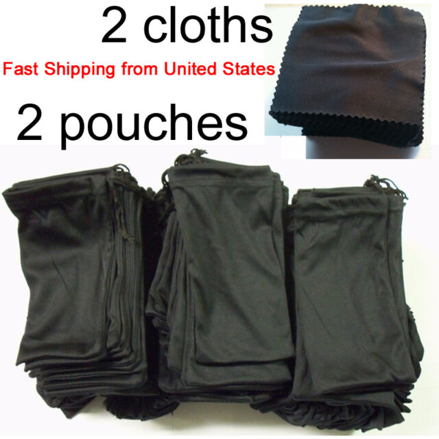 6 MICRO FIBER DRAWSTRING SUNGLASS BAGS pouch cases NEW holder protector new