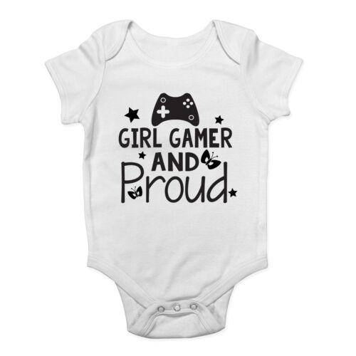 Girl Gamer and Proud Cute Girls Short /& Long Sleeve Baby Vest Bodysuit