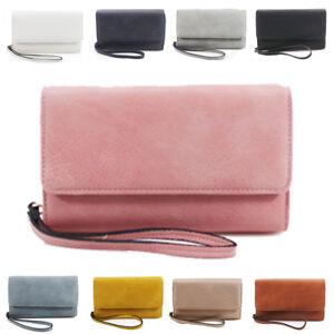 New-Womens-Flap-Synthetic-Leather-Handbag-Wristlet-Purse-Pouch-Clutch-Wallet-Bag