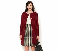 MARNI Red/Black Wool Blend coat UK8-10 IT40, rrp1195GBP New
