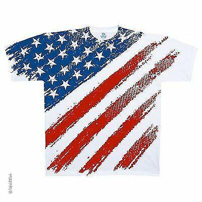 AMERICANA STAR SPANGLED RED WHITE /& BLUE COLORFUL PATRIOTIC MENS T SHIRT M-2XL