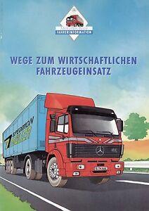 Mercedes-Prospekt-Lkw-Fahrzeugeinsatz-1991-Broschuere-Lastwagen-brochure-truck