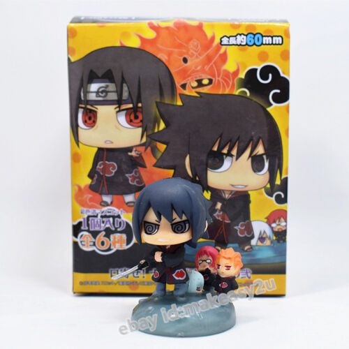 Set 6pcs Naruto Shippuden Petit Chara Land Series 6 Figure 4-6CM Toy New in Box