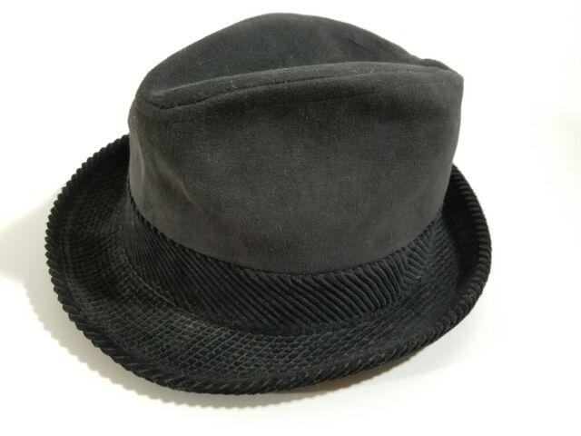 Vintage Dunlap New York Supreme Black Mens Felt ( ) Fedora Size 6 7 ... d009d350484
