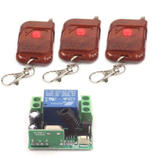12V//24V 10A Relay 1CH wireless Remote Control Switch Transmitter ON//OFF Module