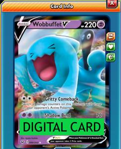 Wobbuffet V 086//202 Sword /& Shield PTCGO Online Digital Card