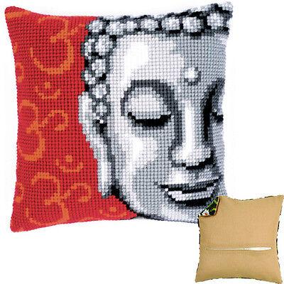 backing optional PN-0143700 Vervaco Cross Stitch Cushion Kit Lady Buddha