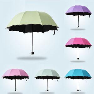 Accessoires pour femme Vêtements et accessoires Automatique Femmes Magie Fleurs Soleil Pluie Compact Pliable Protection Uv Parapluie