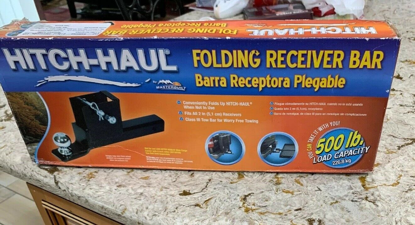 Hitch-Haul Folding Receiver Bar 500 lb  Load Capacity Model HFTB  great selection & quick delivery