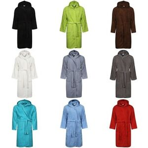 Image is loading BATH-ROBE-LADIES-MENS-100-COTTON-TERRY-TOWELLING- c670504ff