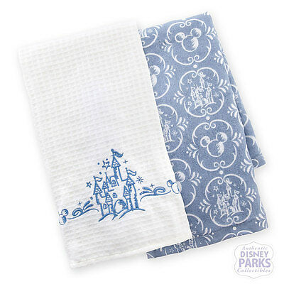 Disney Parks Castle Kitchen Dish Towel Set of 2 New Towels Magic Kingdom