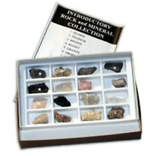 Rocks Minerals Specimen Kit (16) & Mineral Test Kit Geology Physical Properties