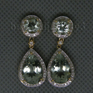 Image Is Loading Antique Vintage Solid 14k Yellow Gold Diamond Green