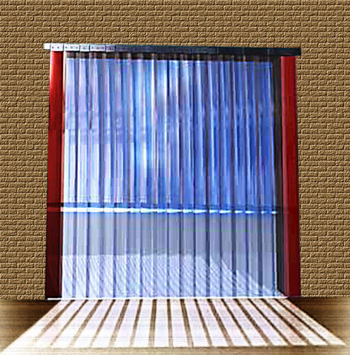 B 1,00m x H2,75m Lamellen PVC Streifen Vorhang 300x3mm