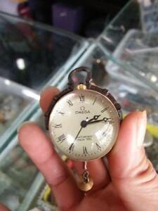 CHINESE-OLD-BRASS-GLASS-Pocket-Watch-BALL-Clock