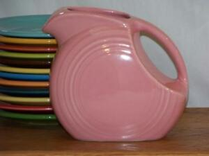 Fiesta-ROSE-Post-86-Small-JUICE-DISK-Pitcher-Discontinued-Item-amp-Color
