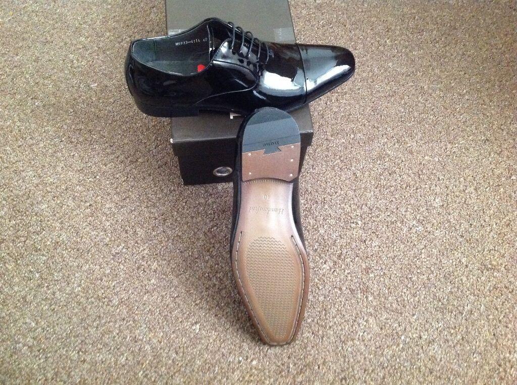 Dune Alex Blind Seam Lace Up Black shoes size 6 Formal shoes