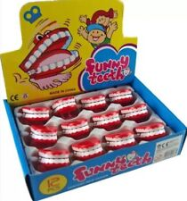 2X Wind Up Chattering Funny Teeth No Eyes Toys/ Party Bag Fillers