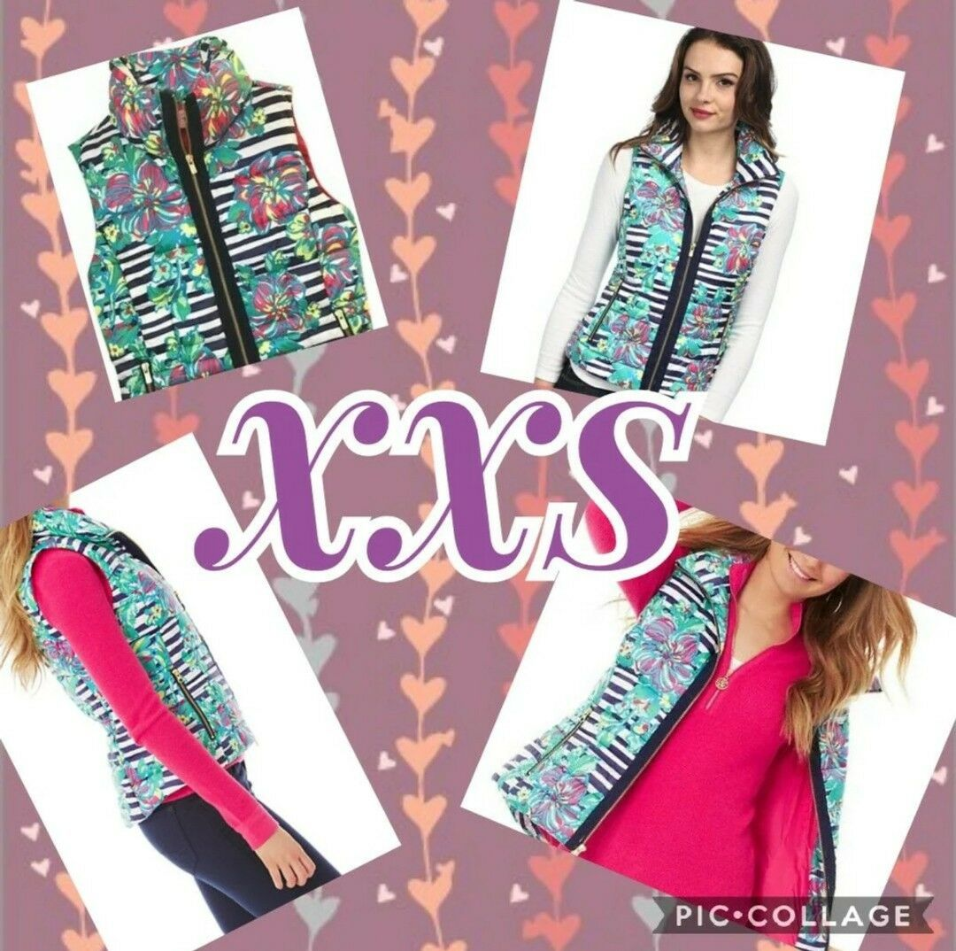 Lilly Pulitzer Syd Quilted Puffer Vest  XXS NEW