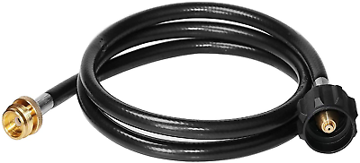 BBQ Gas Grill Propane Bulk Tank Adapter Hose Stainless Braided for Blackstone4ft