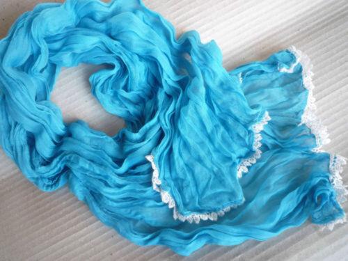 Chiffon Foulard Crinkle écharpe étole froissé écharpe coton doux légèrement volants