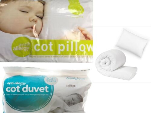 Luxury Anti-Allergy Toddler Baby Cot Bed Duvet//Quilt//Pillow/_Tog 4.5 7.5 and 9