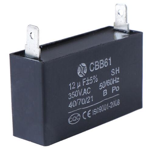 Black 12uF Generator Capacitor Generator CBB61 12uF 50//60Hz 350VAC Fan Motor*JG