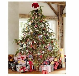 884260e2d30a9 Image is loading POTTERY-BARN-RED-SANTA-HAT-HOLIDAY-CHRISTMAS-TREE-