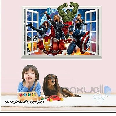 Marvel Green Hulk Super Heroes 3D Window Wall Decals Boy Stickers Decor Gifts