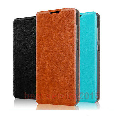 PU Leather Flip Stand Style Card Slot Case Cover For Huawei Cell Phone / Xiaomi
