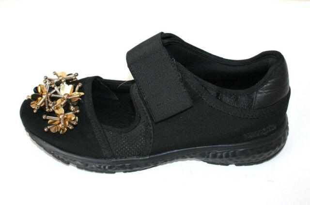 UTERQUE black shoe with gold beading detail - size 37, $149 NEW!
